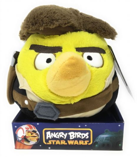 "Angry Birds Star Wars 8"" Plush - HAN SOLO - NEW"